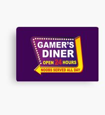 Gamers Diner Canvas Print