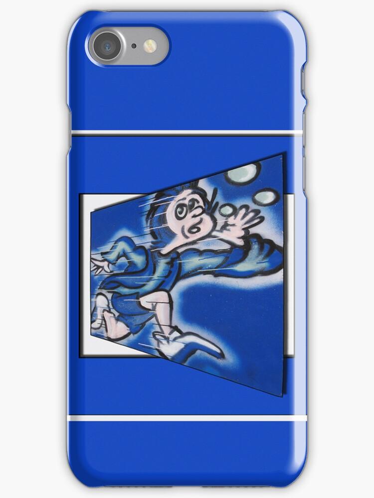 blue boy runnin' (square) by dedmanshootn
