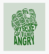 Hulk Quotes Hulk Quotes Photographic Prints  Redbubble