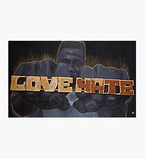 Love/Hate Photographic Print