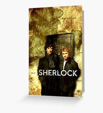 Sherlock Holmes Map by Hannahrain Greeting Card