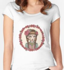 The Little Sister - Sugarskull sisters Women's Fitted Scoop T-Shirt