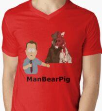 ManBearPig Men's V-Neck T-Shirt