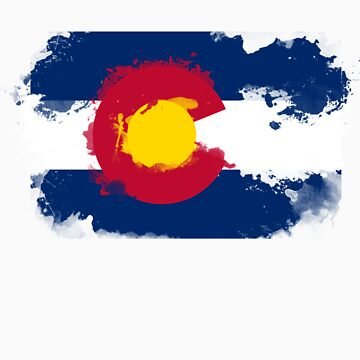 Colorado Flag Grunge by tychilcote