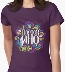 Whimsically Wibbly Wobbly Timey Wimey - Dark Shirt The Second Womens Fitted T-Shirt