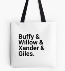 Buffy The Vampire Slayer Character Names Tote Bag
