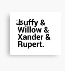 Buffy The Vampire Slayer Names  Canvas Print