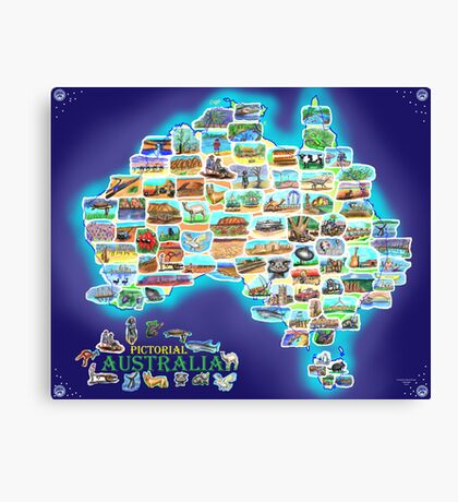 Pictorial Australia Canvas Print