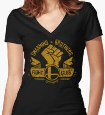 Smashing Brothers Women's Fitted V-Neck T-Shirt