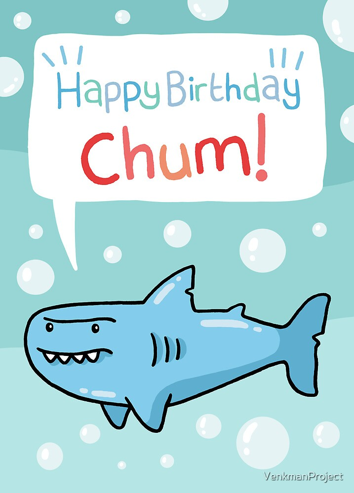 "shark birthday card"" by venkmanproject  redbubble, Birthday card"
