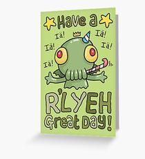 Cthulhu Birthday Card! Greeting Card