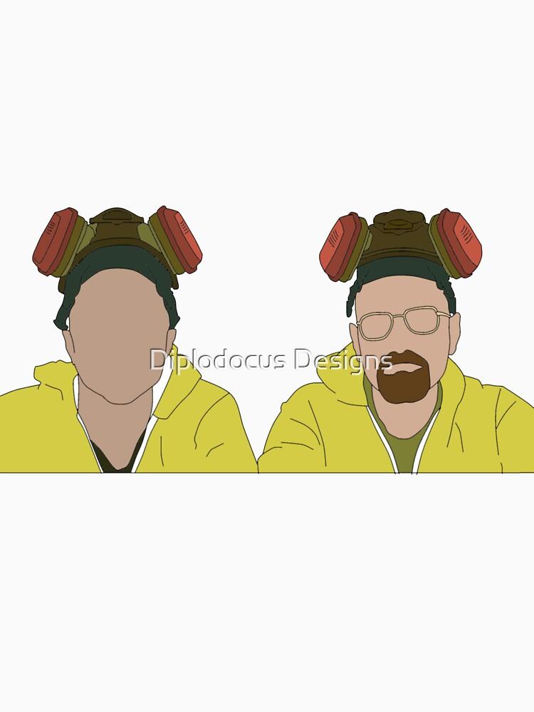 Jesse & Walt, Breaking Bad Faceless by jordanturnip