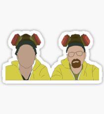 Jesse & Walt, Breaking Bad Faceless Sticker