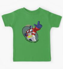 Optimus Prime - Transform and Roll Out Kids Tee