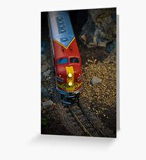 Toy Train III ~ Miniatures Series  Greeting Card