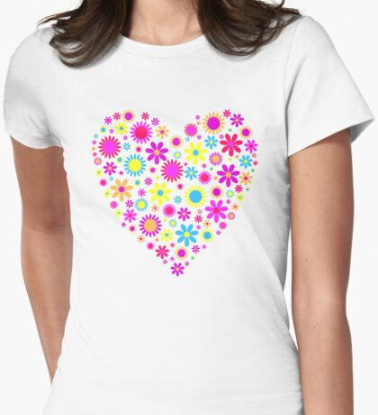 Spring Flower Heart T-Shirt