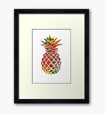 Multicolour Pattern Pineapple Framed Print