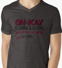 Oh-Kay Plumbing Mens V-Neck T-Shirt