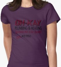 Oh-Kay Plumbing Women's Fitted T-Shirt