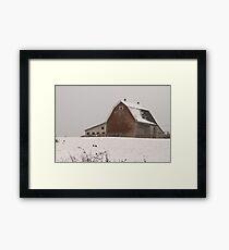 Barn with Snow (Colour) Wellington N.S. Framed Print
