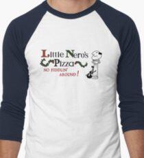 Little Nero's Pizza Men's Baseball ¾ T-Shirt