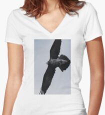 Out of the Blue Women's Fitted V-Neck T-Shirt