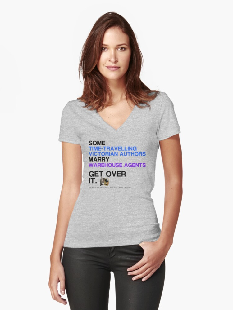 Some Victorians marry Warehouse agents Light Version. Women's Fitted V-Neck T-Shirt Front