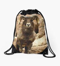 Big Horn Sheep Drawstring Bag