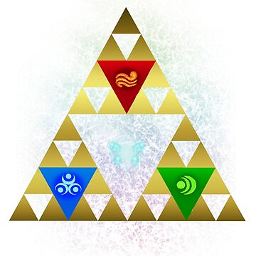 Legend of Zelda Triforce Navi Ocarina of Time by forkshifter