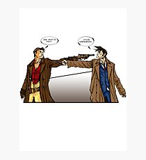 Captain Reynolds vs The Doctor Photographic Print