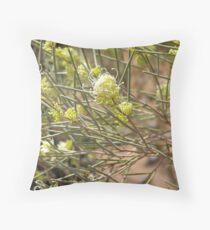 Needlewood flower Throw Pillow