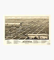 Bird's Eye View of Madison Lake County South Dakota (1883) Photographic Print