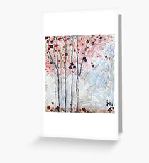 automnal rouge- fall red Greeting Card