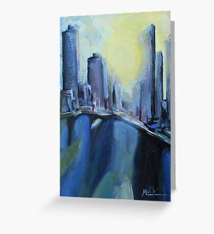 Brisbane City painting Greeting Card