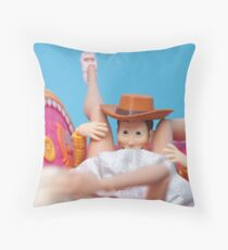 Woody Muff Diving Throw Pillow