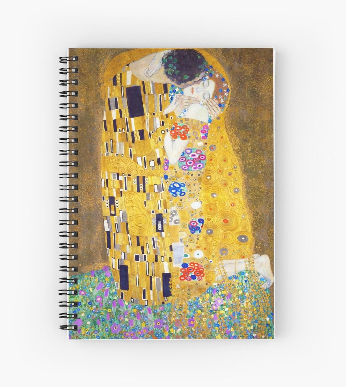 Cuadernos de espiral «Gustav Klimt - El beso» de irinatsy | Redbubble