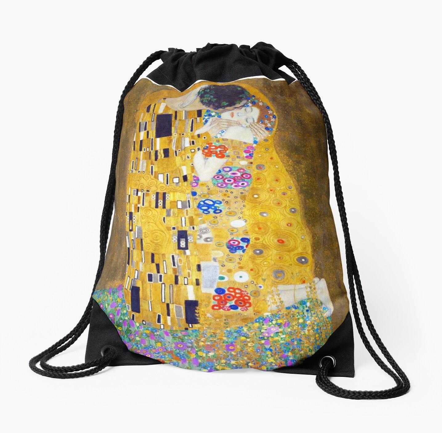 Mochilas de cuerdas «Gustav Klimt - El beso» de irinatsy | Redbubble