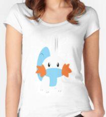 Mudkip Splatter Women's Fitted Scoop T-Shirt