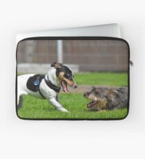 Dogs playing Laptop Sleeve