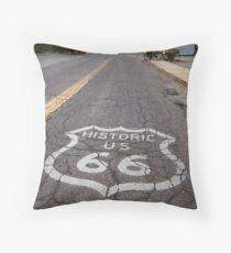 Route 66 road shield, Oatman, AZ Throw Pillow