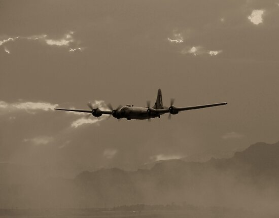 B-29 Bomber Fighter Plane by Amy McDaniel