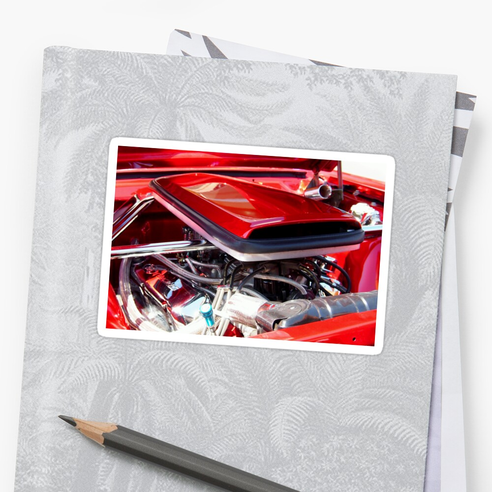 Candy Apple Red Horsepower - Ford Racing Engine by Amy McDaniel