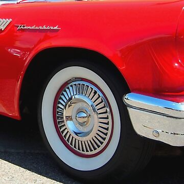 Red Ford Thunderbird - Classic Hot Rod by Scubagirlamy