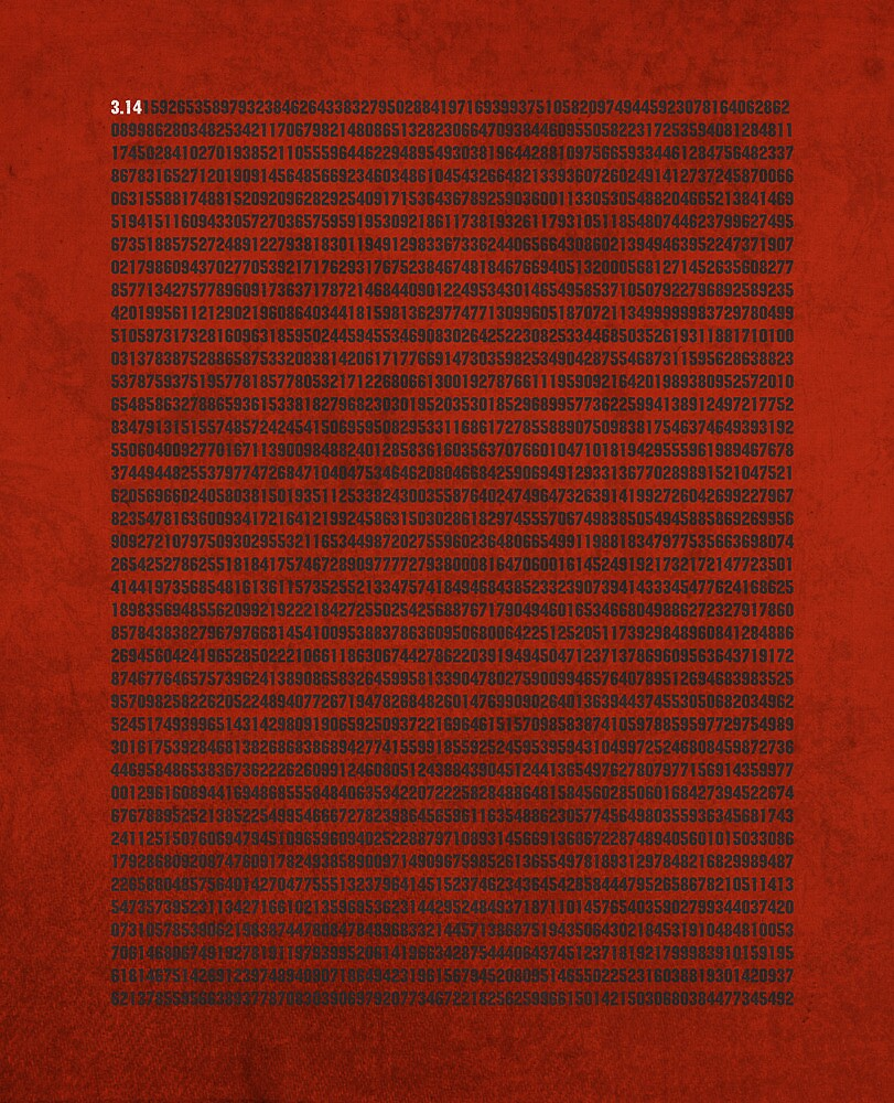 Digits of Pi Cool Math Poster by scienceispun