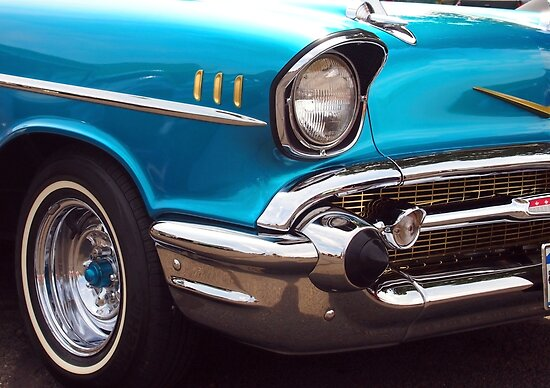 Chevrolet Bel Air Muscle Cart in Blue and Gold by Amy McDaniel
