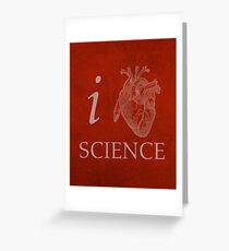 I Heart Science Poster Greeting Card