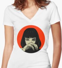 Mia (version 2) Women's Fitted V-Neck T-Shirt