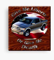Dodge Ram Truck Give Me Liberty Canvas Print