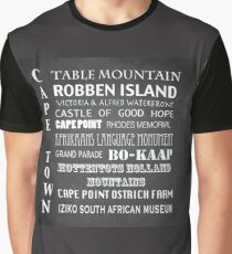 Cape Town Famous Landmarks Graphic T-Shirt