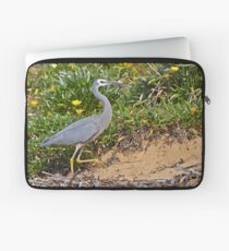 White Faced Heron  Laptop Sleeve
